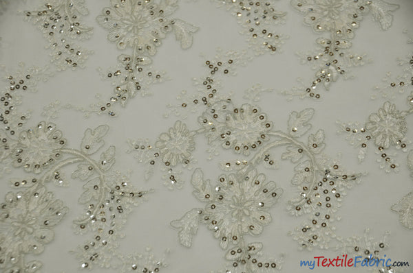 Sequins Embroidery Lace