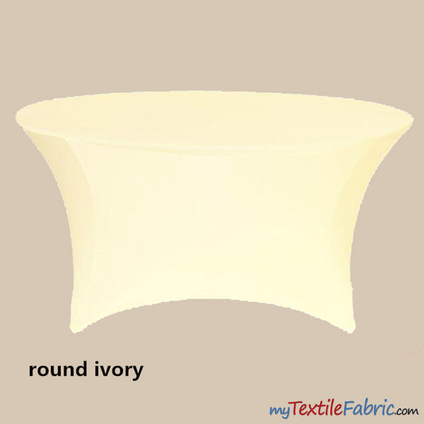 5ft Round Spandex Tablecloth