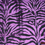 "Load image into Gallery viewer, Zebra Flocking Taffeta | Flocking Velvet Zebra on Taffeta Fabric | 60"" Wide 