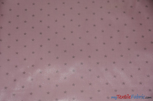 Mini Star Silky Satin Fabric | Soft Mini Star Charmeuse Fabric | 60