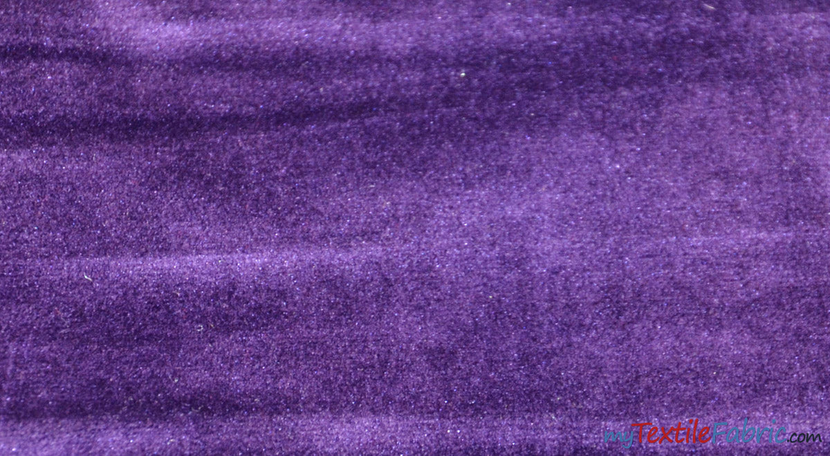 "Royal Velvet Fabric | Soft and Plush Non Stretch Velvet Fabric | 60"" Wide 