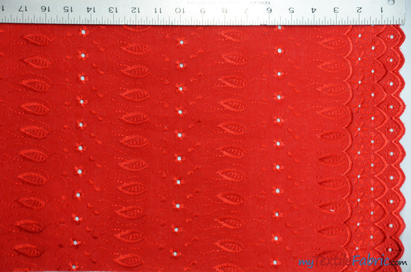 Cotton Eyelet Double Sided Border