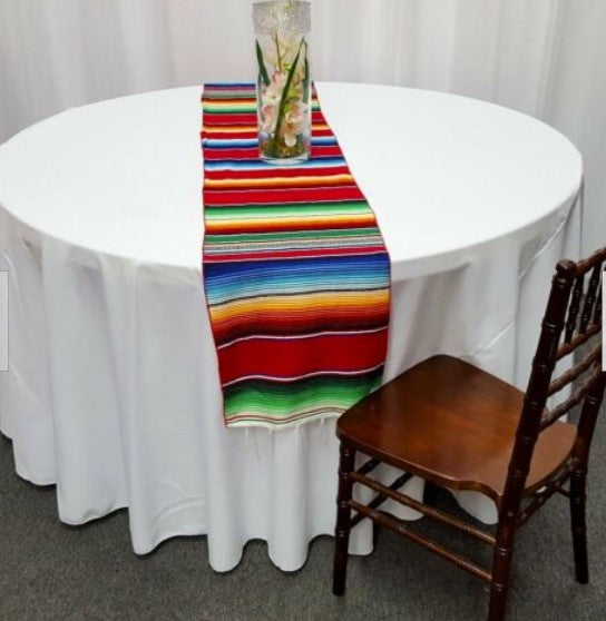 "Colorful Serape Table Runners | 14"" x 84"" Table Runner 