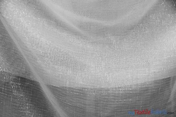 Metallic Faux Sheer Linen