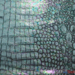 "Load image into Gallery viewer, 4 Way Stretch Dancewear Fabric | Jungle Alligator Hologram Spandex | 58/60"" Wide 