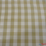 "Load image into Gallery viewer, Gingham Checkered Fabric | Polyester Picnic Checkers | 1"" x 1"" 