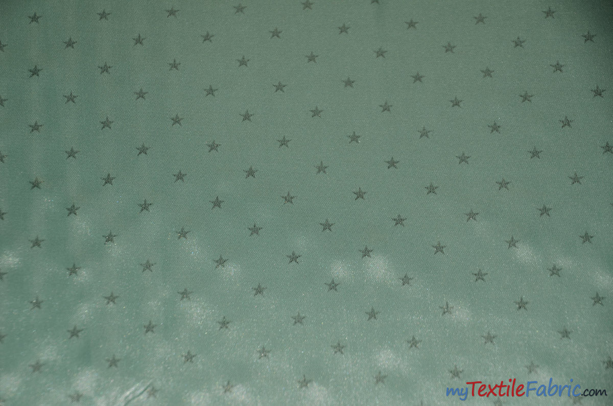 "Mini Star Silky Satin Fabric | Soft Mini Star Charmeuse Fabric | 60"" Wide 