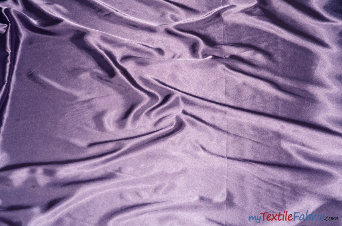 "Silky Soft Medium Satin Fabric | Lightweight Event Drapery Satin | 60"" Wide 