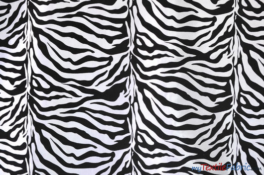 Zebra Flocking Taffeta | Flocking Velvet Zebra on Taffeta Fabric | 60