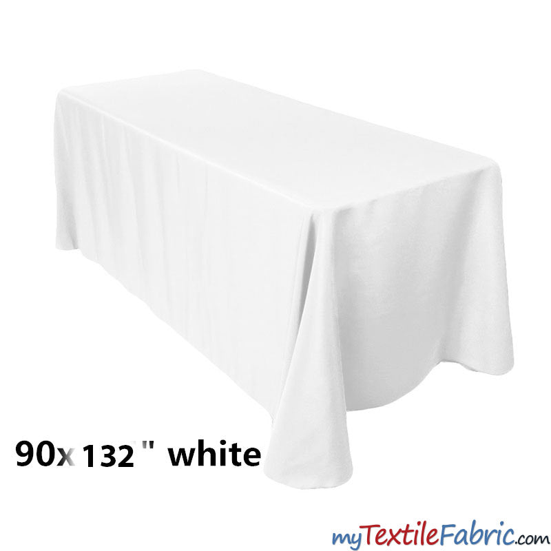 "90"" x 132"" Polyester 6Ft Tablecloth 