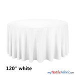 "Load image into Gallery viewer, 120"" Round Polyester Seamless Tablecloth 