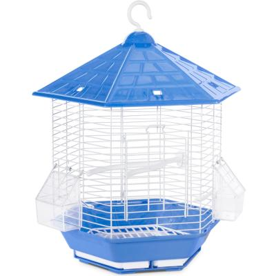 Hexagon Bali Bird Cage, Assorted Colors 10x16