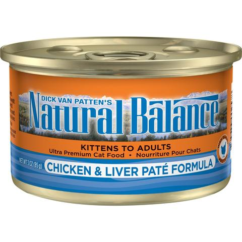 Natural Balance Ultra Premium Chicken and Liver Pate Canned Cat Food