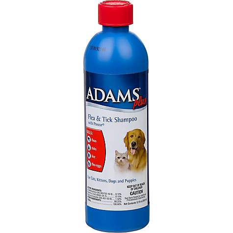 Adams Flea & Tick Shampoo for Dogs and Cats, 12 oz.