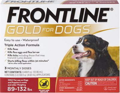 Frontline Gold for X-Large Dogs, 89-132 lbs