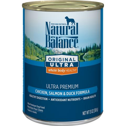 Natural Balance Original Ultra Premium Whole Body Health Chicken, Salmon and Duck Formula Canned Dog Food