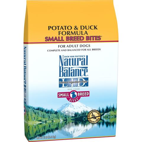 Natural Balance L.I.D. Limited Ingredient Diets Potato and Duck Small Breed Bites Dry Dog Food