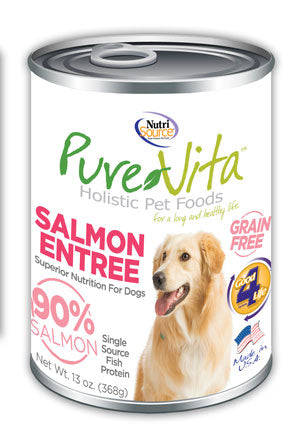 PureVita Grain Free 96% Real Salmon Entree Canned Dog Food