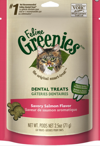 Greenies Feline Dental Salmon Flavor Cat Treats