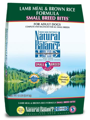 Natural Balance L.I.D. Limited Ingredient Diets Lamb Meal and Brown Rice Formula Small Breed Bites Dry Dog Food