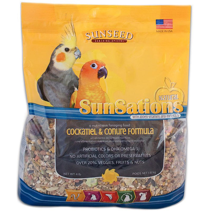 Sunseed SunSations Natural Cockatiel & Conure Formula