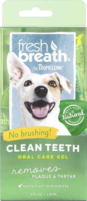 Fresh Breath by TropiClean Oral Care Gel for Dogs, 4oz