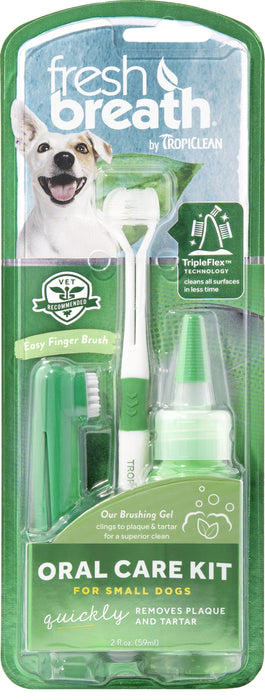 Fresh Breath by TropiClean Oral Care Kit for Small Dogs