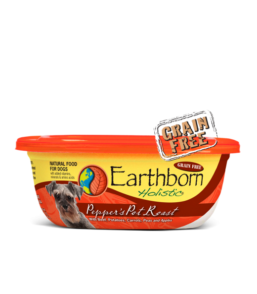 Earthborn Holistic Pepper's Pot Roast Gourmet Dinners Grain Free Moist Dog Food