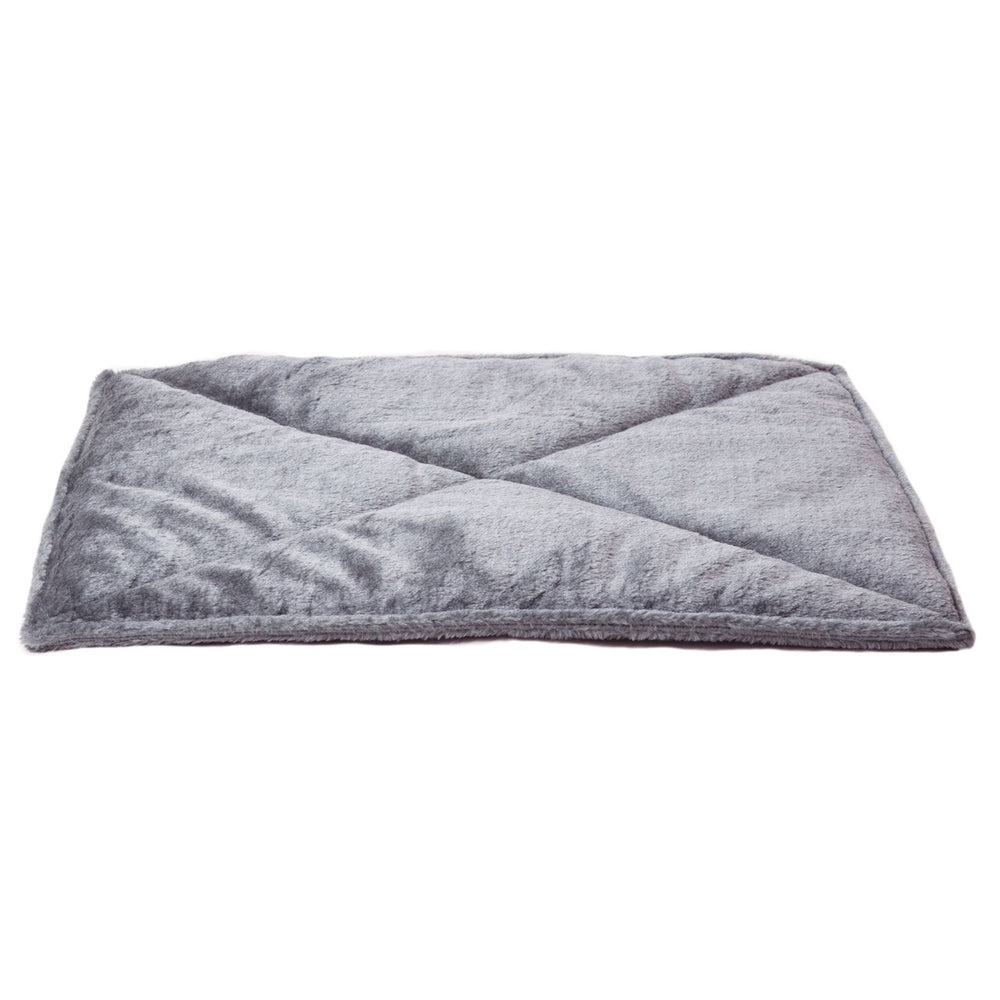 Thermanap™Faux Fur Self-warming Pet Bed Mat-Gray
