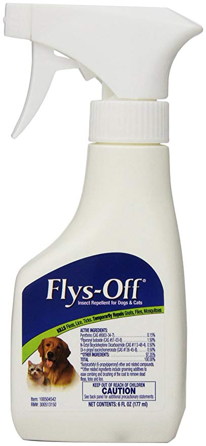 Flys-Off Mist for Cats and Dogs, 6oz.