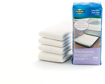 Deluxe Crystal Litter Box Replacement Pee Pad, 4-Pack