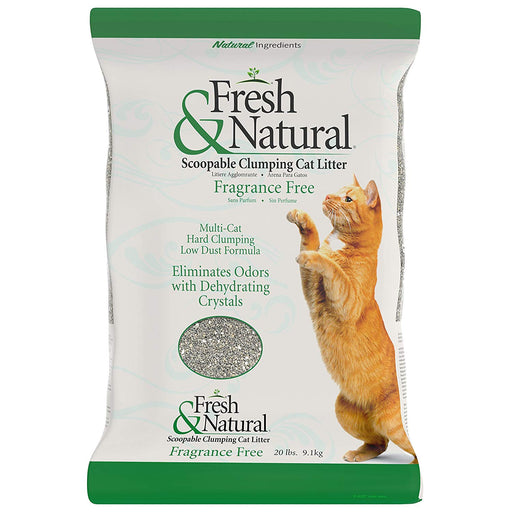 Fresh & Natural Scoopable Clumping Cat Litter (Fragrance Free)