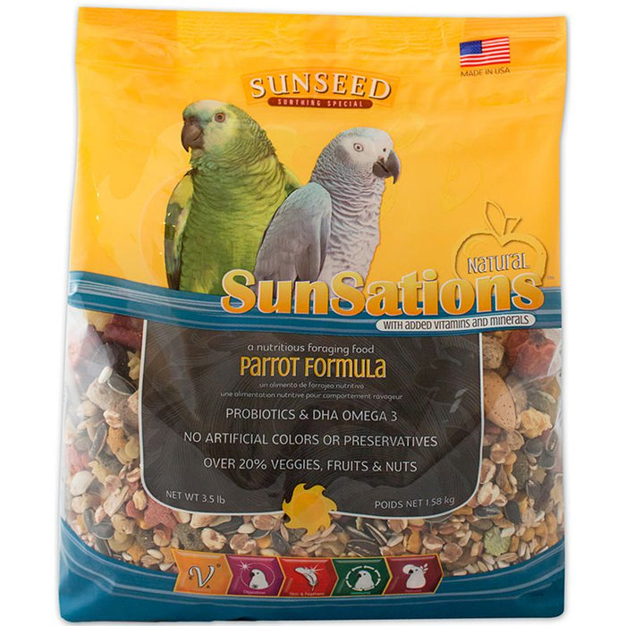 Sunseed SunSations Natural Parrot Formula