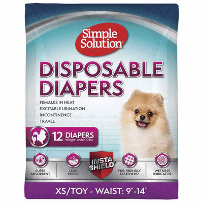 Unisex Disposable Diaper, 12 pk