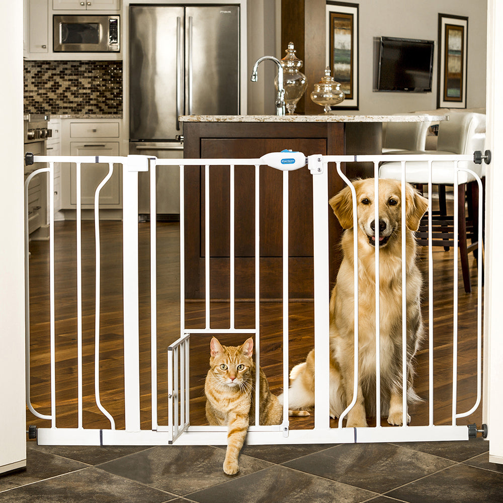 Carlson Pet Extra Wide Gate with Sliding Handle