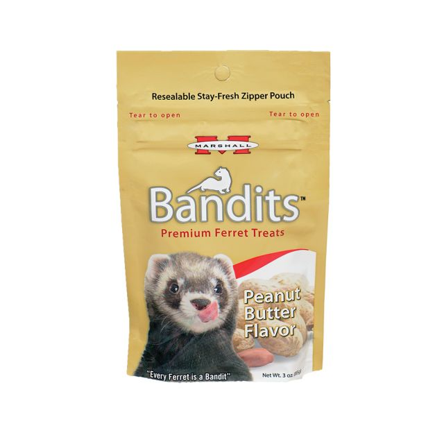 Bandits™ Ferret Treats Peanut Butter, 3oz