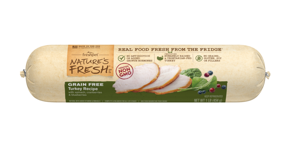 Nature's Fresh® Grain Free Turkey Recipe with Spinach, Cranberries & Blueberries for Dogs