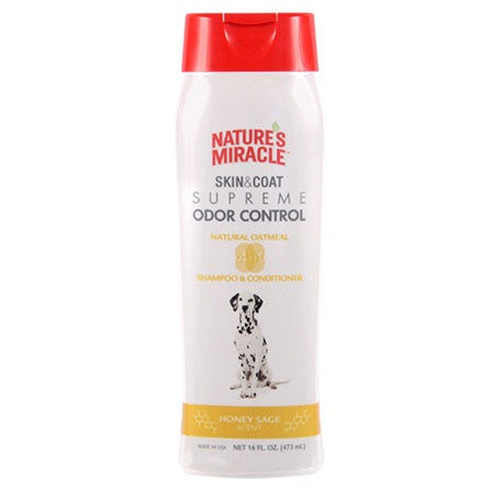 Nature's Miracle Skin & Coat Supreme Odor Control - Oatmeal Shampoo & Conditioner, 16 oz