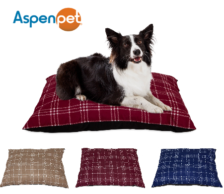 Aspen Pet 27x36  Farmhouse Plaid Pillow Bed