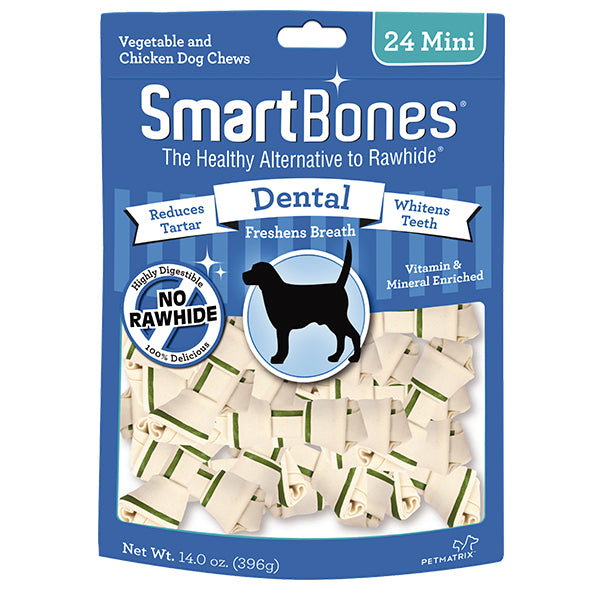 SmartBones Dental Formula Chews-MINI 24pk