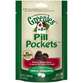 Greenies Pill Pockets Canine Hickory Smoke Flavor Dog Treats for Tablets and Capsules