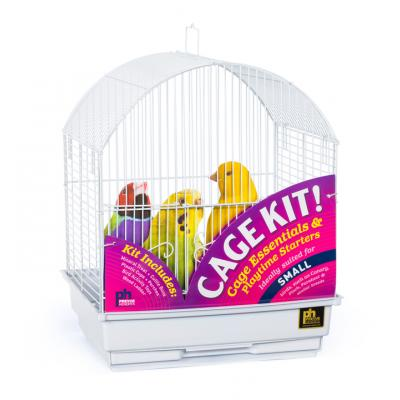 Round Top Bird Cage Kit-White
