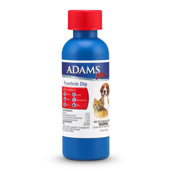 Adams Plus Flea & Tick Dip for Dogs and Cats, 4oz.