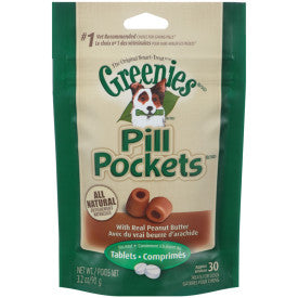 Greenies Pill Pockets Canine Peanut Butter Dog Treats for Tablets and Capsules