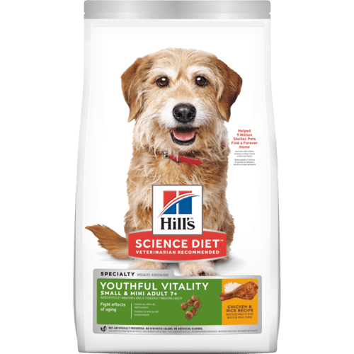 Hill's® Science Diet® Adult 7+ Youthful Vitality Small & Mini Chicken & Rice Recipe dog food