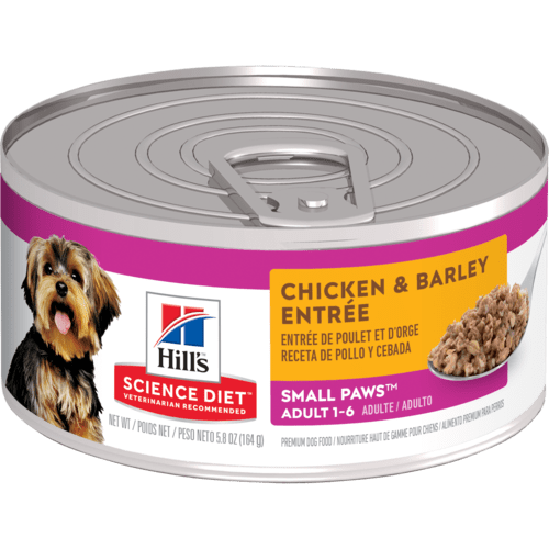 Hill's® Science Diet® Adult Small Paws™ Chicken & Barley Entrée dog food