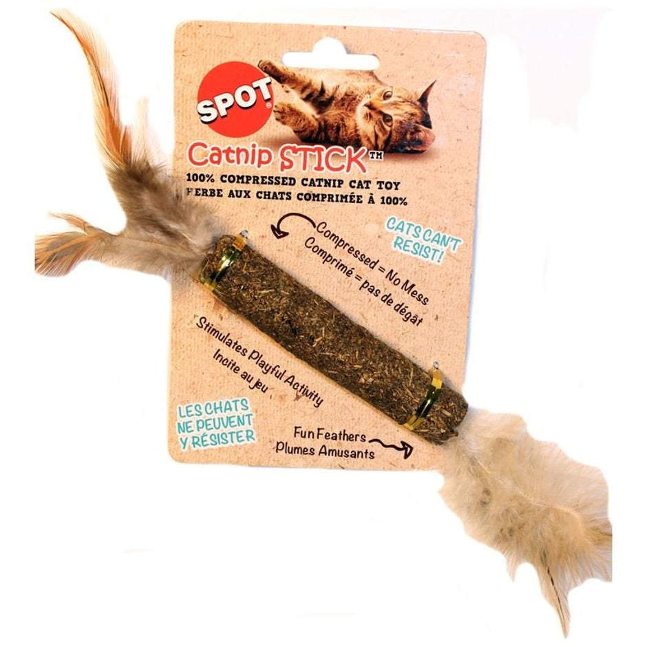 Catnip stick with Feathers-12 inch