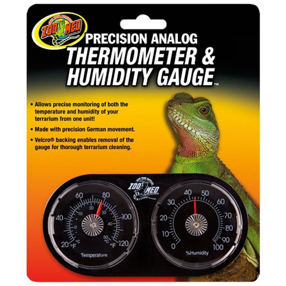 Precision Analog Thermometer & Humidity Gauge