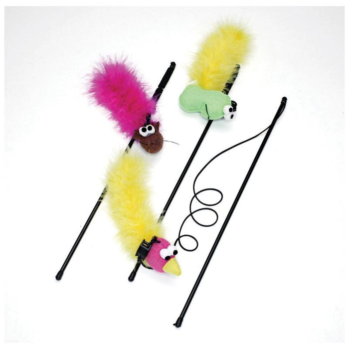 Feather Boa Teaser Wand with Catnip