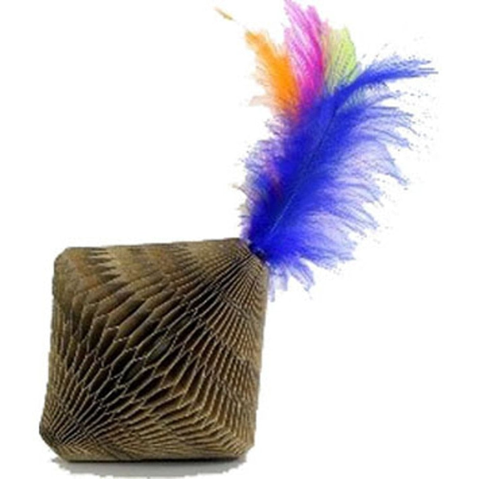 Feather Top Corrugate Cat Toy